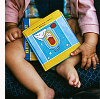 image of baby and books