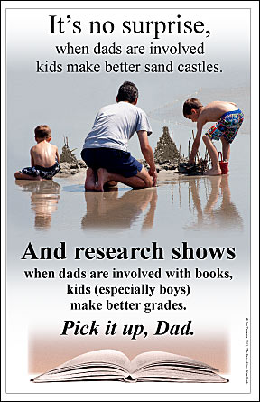 poster on the importancfe of dads reading to sons