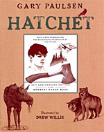 Hatchet cover for 20th anniversary edition